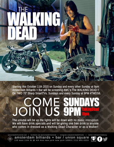 SEASON PREMIER FOR AMC'S THE WALKING DEAD SEASON 6
