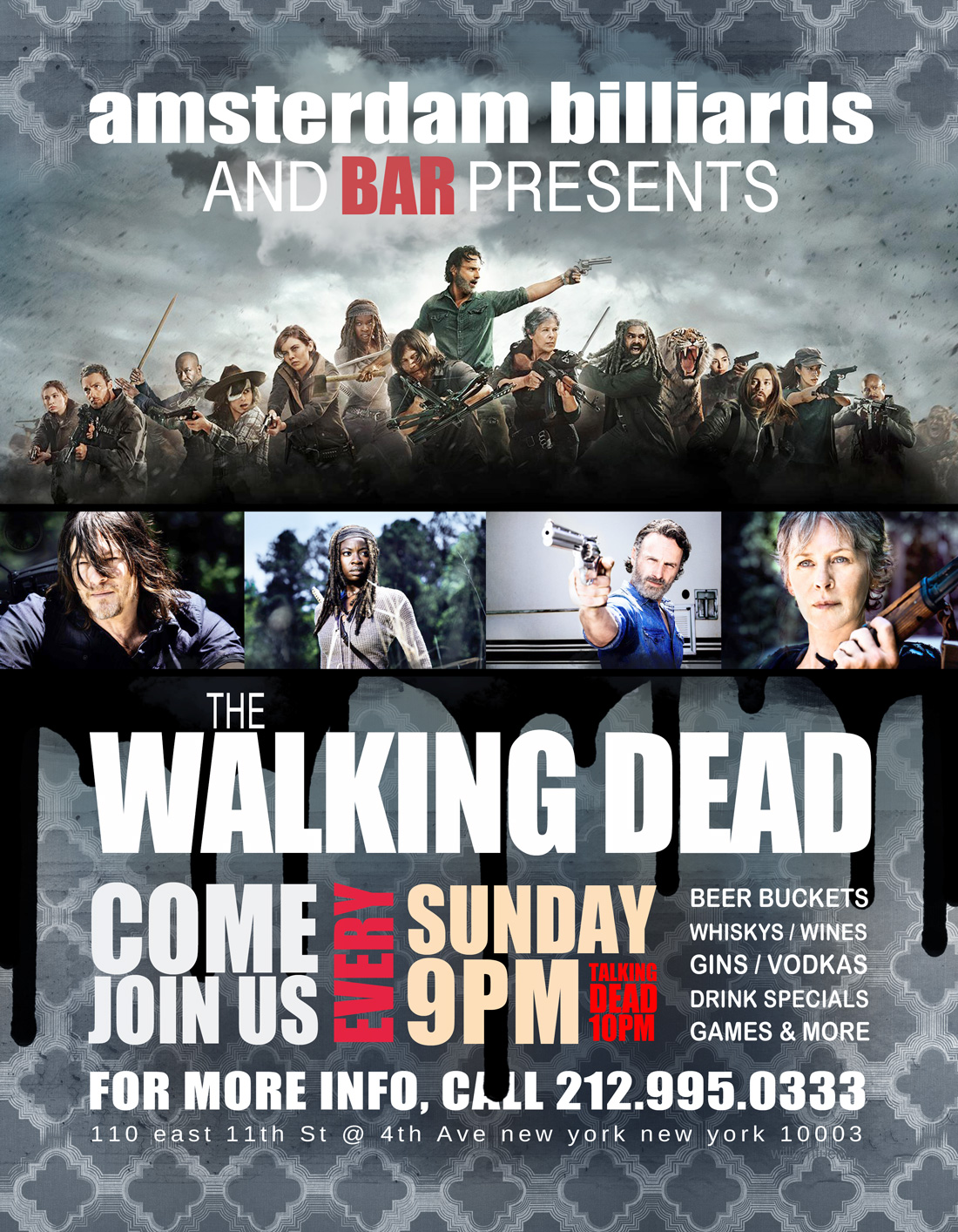 Bars Watching The Walking Dead Season 8 All Out War