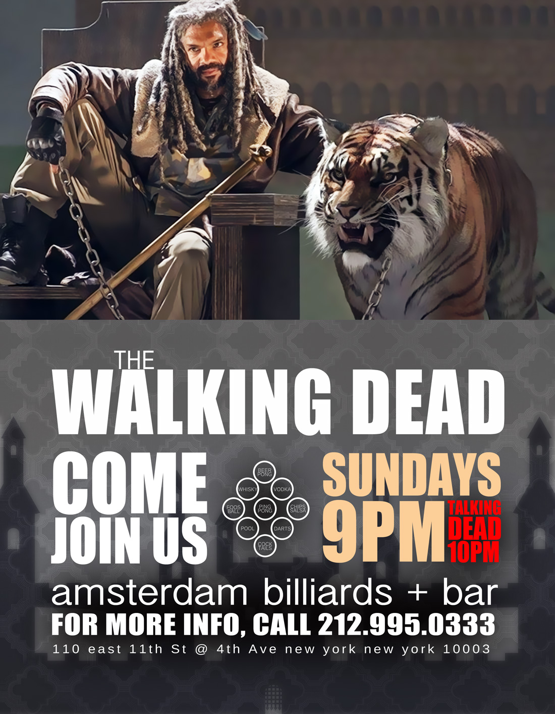 Bars Watching The Walking Dead in NYC