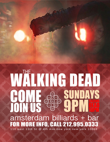 Watch The Walking Dead in a NYC Bar Every Sunday